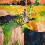 "Dark Twin ... oil on canvas ... 83"" x 60"""
