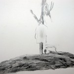 "Keepsake at Burial Mound ... graphite on paper ... 6"" x 8"""